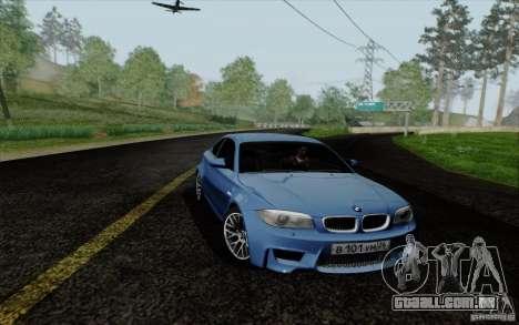 BMW 1M 2011 V3 para GTA San Andreas traseira esquerda vista