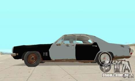 Pontiac LeMans 1970 Scrap Yard Edition para GTA San Andreas traseira esquerda vista