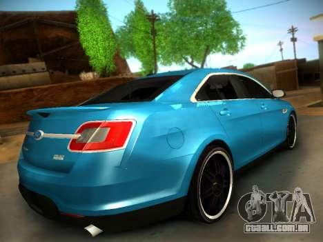 Ford Taurus SHO 2011 para GTA San Andreas traseira esquerda vista