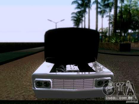 Slamvan Tuned para GTA San Andreas vista traseira