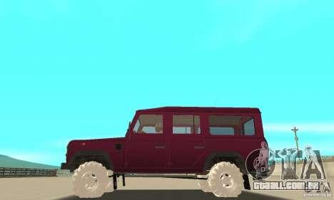 Land Rover Defender 110SW para GTA San Andreas vista superior