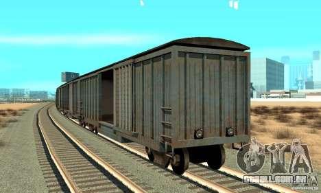 Carroça para GTA San Andreas traseira esquerda vista