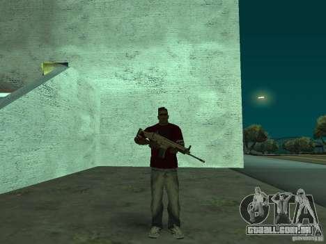 FN Scar-L HD para GTA San Andreas segunda tela
