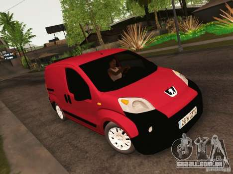 Peugeot Bipper para GTA San Andreas vista interior