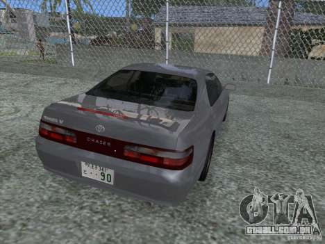 Toyota Chaser JZX90 Stock para GTA San Andreas esquerda vista