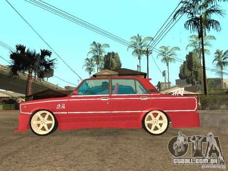 VAZ 2107 Sparky para GTA San Andreas esquerda vista