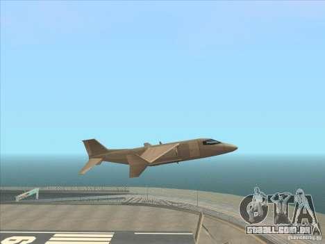 Cargo Shamal para GTA San Andreas traseira esquerda vista