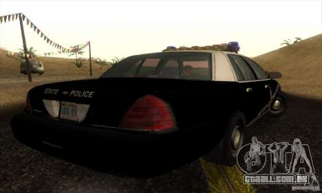 Ford Crown Victoria Idaho Police para GTA San Andreas esquerda vista