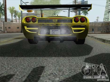 Saleen S7 Twin Turbo Competition Custom para GTA San Andreas vista traseira