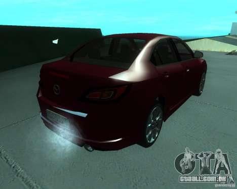 Mazda 6 2010 para GTA San Andreas esquerda vista
