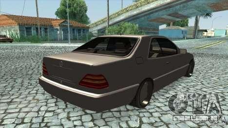 Mercedes Benz 600 Sec para GTA San Andreas vista direita