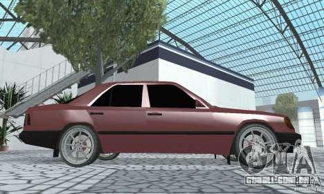 Mercedes-Benz 200D para GTA San Andreas vista direita