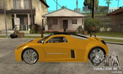 Chrysler ME Four-Twelve Concept para GTA San Andreas esquerda vista