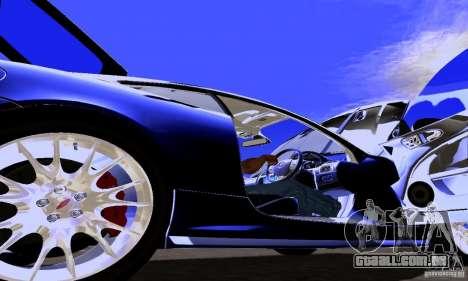 Jaguar XKRS para GTA San Andreas vista interior