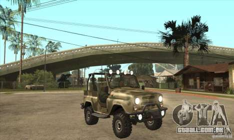 Verme UAZ-3150 para GTA San Andreas vista traseira