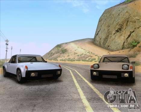 Porsche 914-6 para GTA San Andreas vista superior
