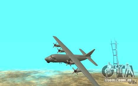 C-130H Spectre para GTA San Andreas esquerda vista