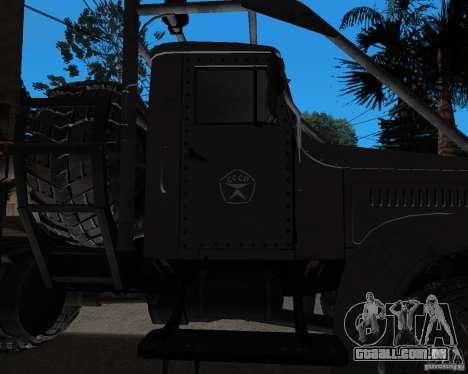 KrAZ 255 + reboque artict2 para GTA San Andreas vista traseira