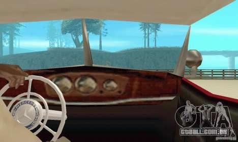 Mercedes-Benz 500K para GTA San Andreas vista interior