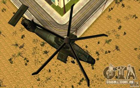 Sikorsky RAH-66 Comanche stealth green para GTA San Andreas esquerda vista