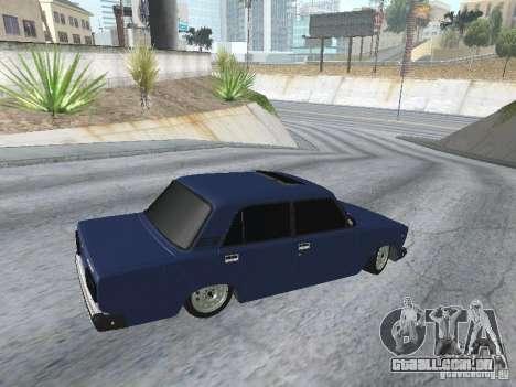 VAZ-2107 v2 para GTA San Andreas vista traseira