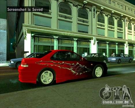 Honda Prelude com tuning para GTA San Andreas vista direita