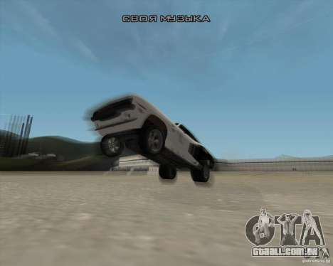Plymouth Hemi Cuda Rogue para GTA San Andreas vista superior