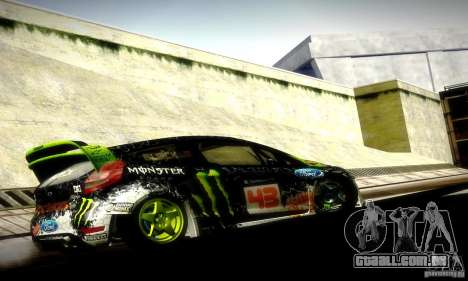 Ford Fiesta Gymkhana 5 para GTA San Andreas vista direita
