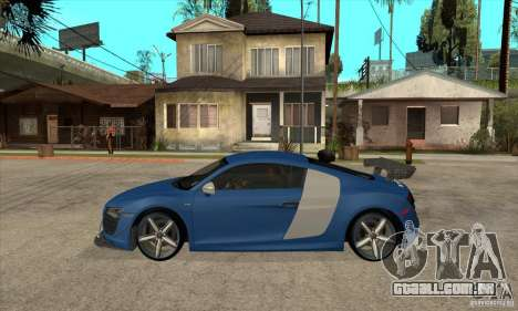Audi R8 V10 v2 para GTA San Andreas esquerda vista