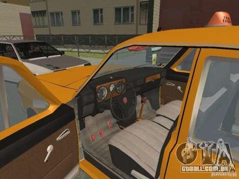 Táxi de Volga GAZ 24-10 para GTA San Andreas vista interior
