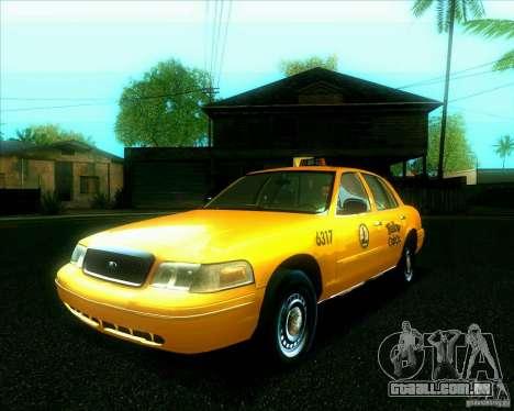 Ford Crown Victoria 2003 TAXI para GTA San Andreas vista traseira