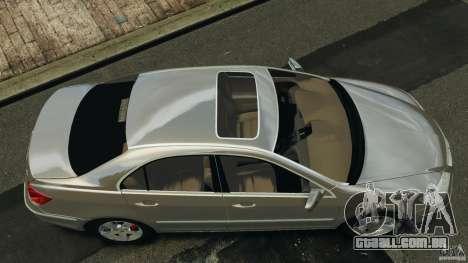 Honda Acura RL para GTA 4 vista direita