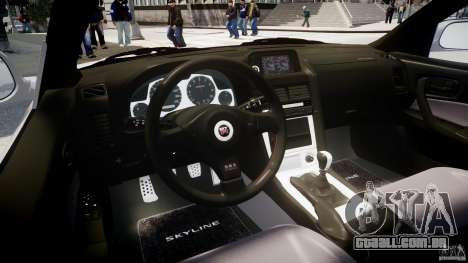 Nissan Skyline GT-R R34 2002 v1 para GTA 4 vista direita