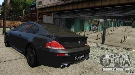 BMW M6 Hurricane RR para GTA 4 esquerda vista