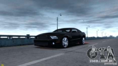 Ford Shelby Mustang GT500 2011 v2.0 para GTA 4 vista direita