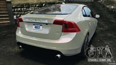 Volvo S60 R Design para GTA 4 traseira esquerda vista