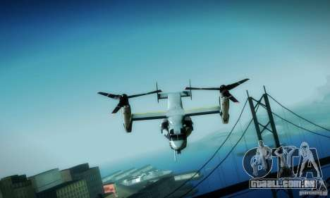 MV-22 Osprey para vista lateral GTA San Andreas