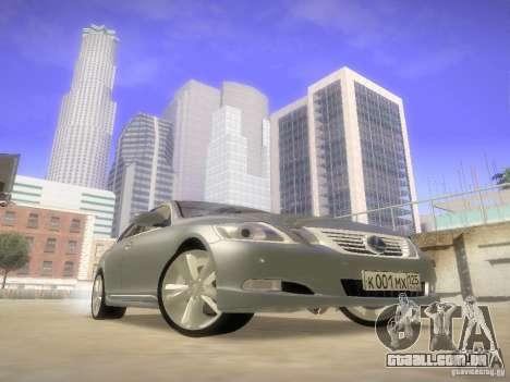 Lexus GS450H para GTA San Andreas vista traseira