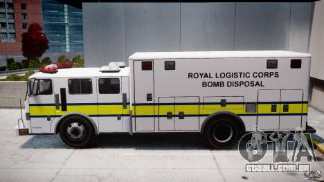 Royal Logistic Corps Bomb Disposal Truck para GTA 4 esquerda vista