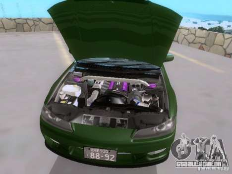 Nissan Silvia S15 drift para vista lateral GTA San Andreas