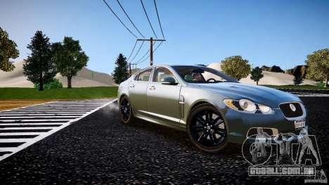 Jaguar XFR 2010 para GTA 4 vista direita