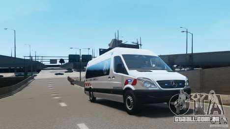 Mercedes-Benz Sprinter-Identification Criminelle para GTA 4 esquerda vista