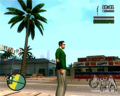 As garras de um predador para GTA San Andreas segunda tela