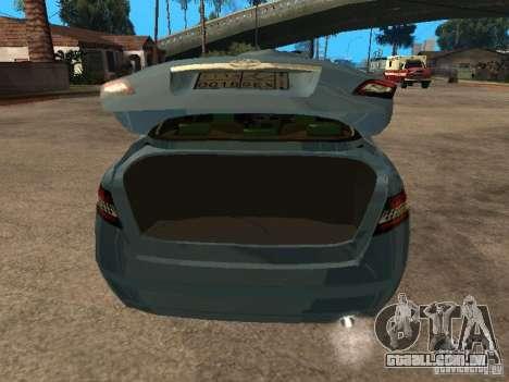 Toyota Camry para GTA San Andreas vista traseira