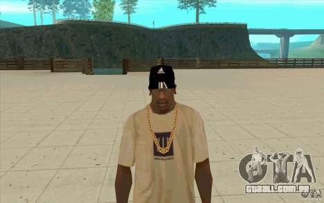 Adidas baseball cap-preto para GTA San Andreas
