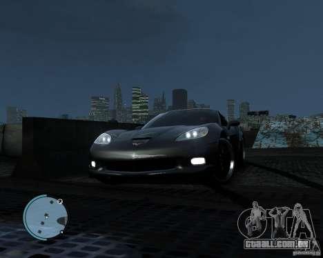 Chevrolet Corvette Grand Sport 2010 para GTA 4 vista de volta