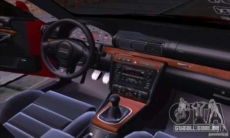 Audi S4 Light Tuning para GTA San Andreas vista interior