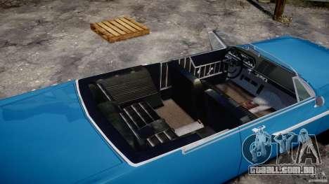 Dodge Dart 440 1962 para GTA 4 vista superior
