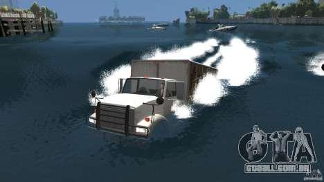 Benson boat para GTA 4 traseira esquerda vista