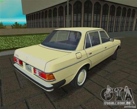 Mercedes-Benz 230 1976 para GTA Vice City vista direita